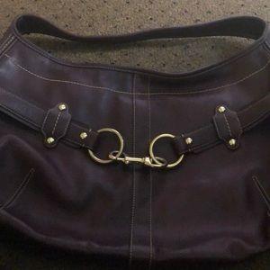 Coach burgundy hobo bag